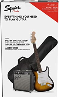Fender Squier Stratocaster LRL Brown Sunburst + Frontman 10G