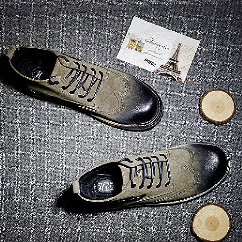 HL-PYL - Martin Schuhe für Herren Schuhe und Retro verdickte hohe All-Match Schuhe, 40, Khaki