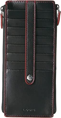Audrey RFID Joan Double Zip Card Case