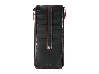 Lodis Accessories Audrey RFID Joan Double Zip Card Case (Black) Wallet