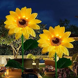 Devo Upgrade Outdoor Sunflower Solar Garden Stake Lights, Waterproof ,Premium Solar Decorative Lights for Garden, Patio, P...