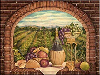 Best tuscan tile murals kitchen backsplash Reviews