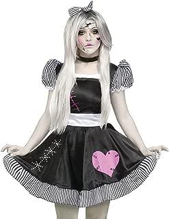 Ladies Sexy Broken Dead Rag Doll + Tights Halloween Fancy Dress Costume Outfit UK 10-26 Plus Size (UK 10-12)