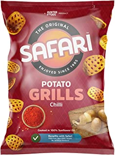 SAFARI Potato Grills Chips, Chilli, 60 gm