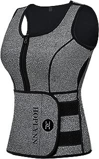 Neoprene Sauna Sweat Vest, Waist Trainer Slimming Vest for Women Weight Loss with Adjustable Waist Shaper Belt