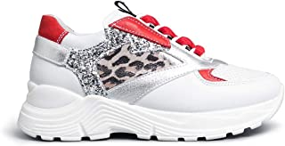 Nero Giardini E031430F Sneakers Teens Fille en Cuir Et Toile