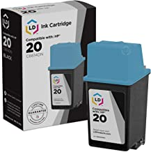 LD Remanufactured Ink Cartridge Replacement for HP 20 C6614DN (Black)