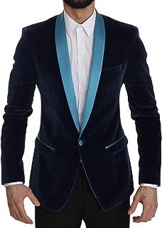 Dolce & Gabbana Blue Gold Slim Fit Cotton Blazer Jacket