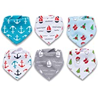 6-Pack Corewill Baby Bandana Drool Bibs for Teething and Drooling