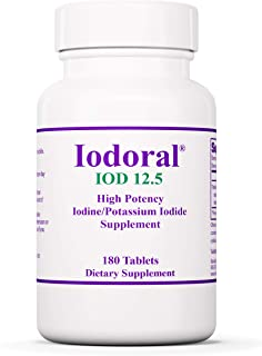 Optimox Iodoral 12.5 mg - Original High Potency Iodine Supplement - Energy Support - 180 Tablets