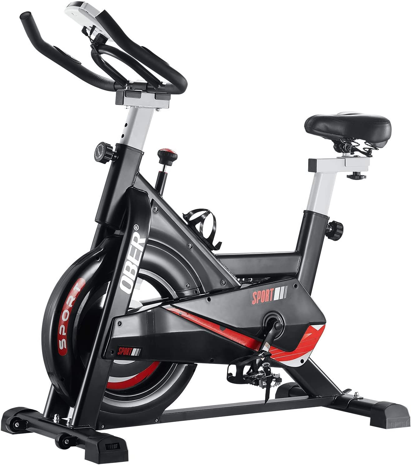 Ober Stationary Exercise Bike 300 Workout Sp lb Cardio Capacity Super 5 ☆ very popular sale period limited