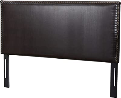 Christopher Knight Home Hilton Leather Headboard, King / Cal King, Brown