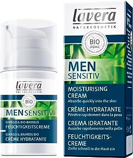 Lavera Men Sensitiv Crema Hidratante - absorbe rápidamente - vegano - cosméticos naturales 100% certificados - cuidado de ...