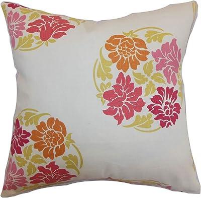 Deny Designs Natalie Baca Floral In Plum Throw Pillow 20 x 20 50920-thrpi1