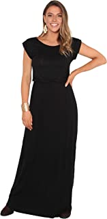Womens' Long Casual Loose Dress Short Sleeve Or Sleeveless Maxi