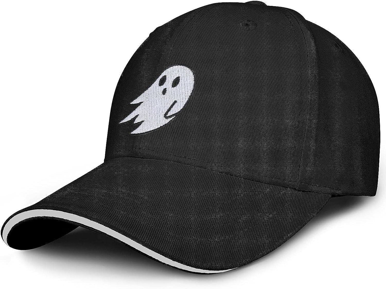 LHSCVUFASC Halloween Ghost Embroidered Hat Snapback Baseball Cap Boo Hat Adjustable Trucker Hat Cotton Dad Hats for Men Women