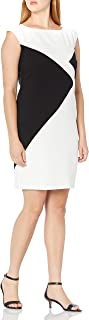 NINE WEST Dresses Women's Sleeveless Colorblock Dress