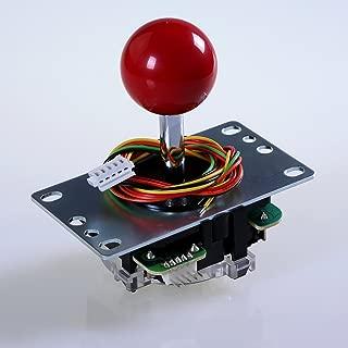 SANWA JLF-TP-8YT-SK OEM Red Ball Top Handle Arcade Joystick 4 & 8 Way Adjustable (Mad Catz SF4 Tournament Joystick Compatible)
