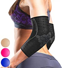 Sparthos Elbow Compression Sleeves (Pair) – Tennis and Golfer's Elbow Support –..