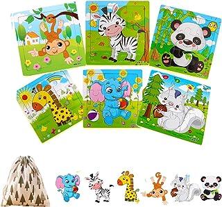 Felly Speelgoed voor baby's vanaf 2 jaar, houten puzzel voor kinderen van 1, 2, 3, 4 jaar, meisjes en jongens, speelgoed v...