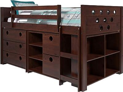 Donco Kids 780-Cp Circles Low Loft Bed/Cappuccino, Dark Cappuccino