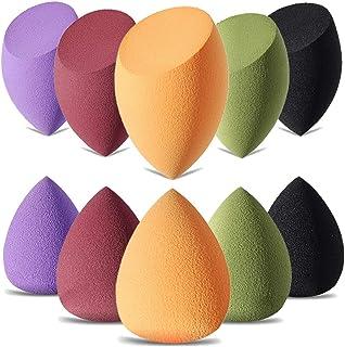 YEOTWIN (10pcs) Makeup Sponge Set Latext-free Beauty Sponges Makeup Blender Foundation Sponge Cosmetics Applicator Sponges