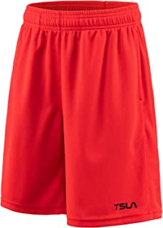 TSLA Boy's (Pack of 1, 2) Athletic Shorts, Quick Dry Pull On Basketball Running Shorts, Active Sports Workout Gym Shorts