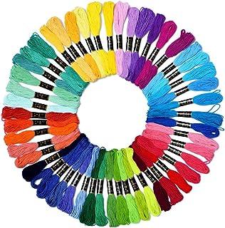Starthi Friendship Bracelet Making Kit For Girls Embroidery Floss Rainbow Color 50 Skeins Per Pack Cross Stitch Threads Fr...