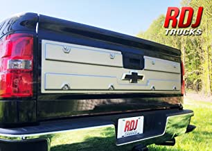 RDJ Trucks PRO-Offroad DLX Bolt-On Style Tailgate Panel - Fits Chevrolet Silverado/Fits GMC Sierra (Simulated Brushed Aluminum)