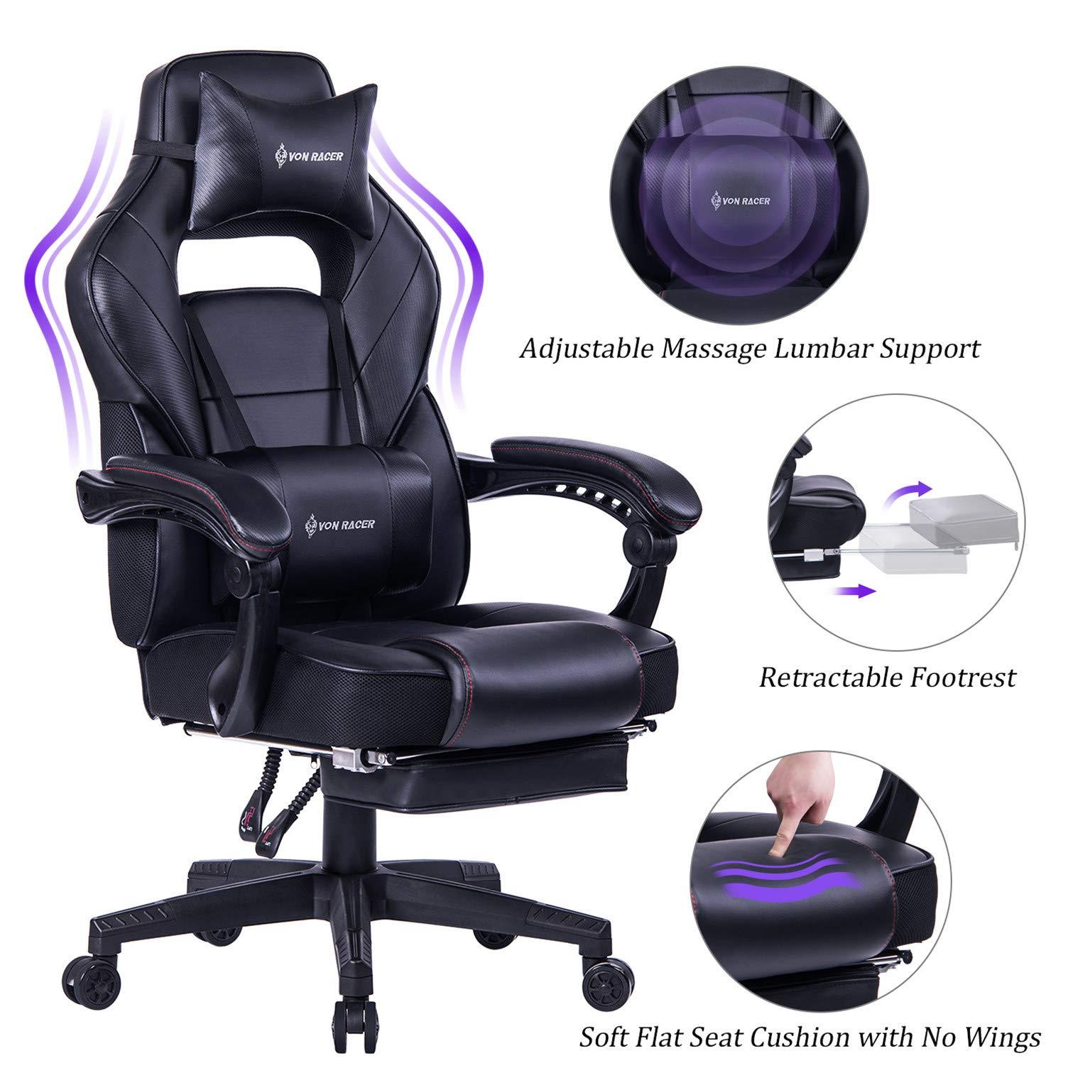 VON RACER Massage Reclining Gaming