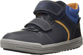 GEOX Kids' Arzach Boy 10 High Top Velcro Sneaker