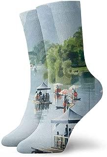竹のラフティングシャングリ水彩カジュアルノベルティクルーソックスクリスマスギフトパック