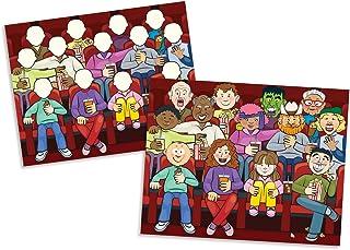 مجموعة دفاتر الملصقات القابلة لإعادة الاستخدام (مجموعة من ٤ دفاتر)