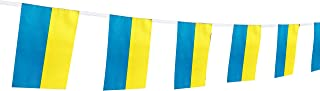 Kind Girl Ukraine Flag Ukrainian Flag,100Feet/76Pcs National Country World Pennant Flags Banner,Party Decorations Supplies for Olympics,Bar,Indoor and Outdoor Flags,Intarnational Festival