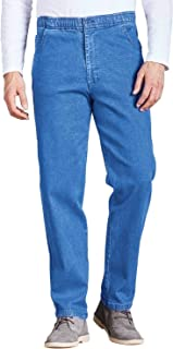 Chums Mens Elasticated Waist Drawcord Denim Trouser Pants Jeans