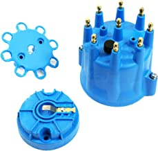 A-Team Performance Universal 8-Cylinder Male Pro Series Distributor Cap & Rotor Kit (Blue)