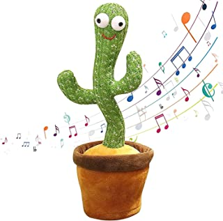 Cactus Plush Toys Electronic Shake Dancing Cactus Plush Cute Dancing Cactus Singing and Dancing Cactus Funny Early Childho...