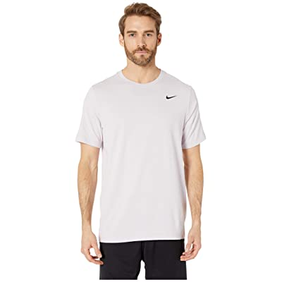 Nike Dry Tee Dri-FITtm Cotton Crew Solid (Pink Foam/Pale Pink/Black) Men