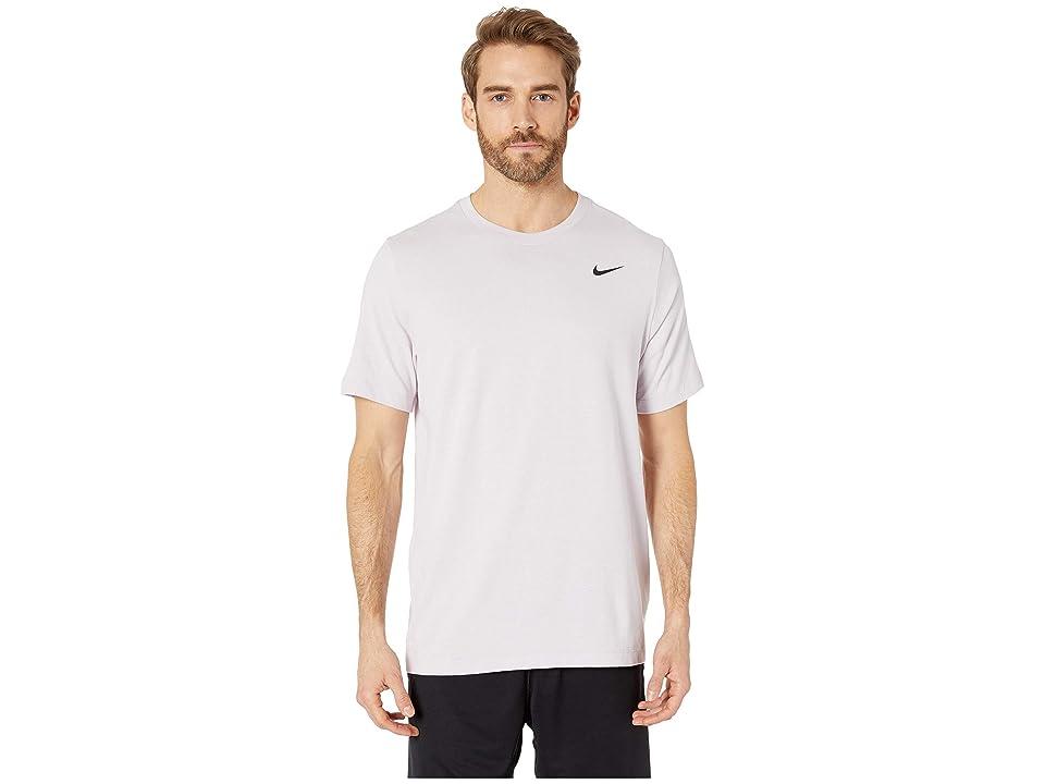 Nike Dry Tee Dri-FITtm Cotton Crew Solid (Pink Foam/Pale Pink/Black) Men