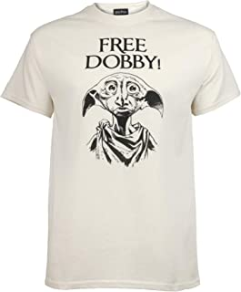 Harry Potter Free Dobby Men's T-Shirt   Official Merchandise   S-XXL, Wizarding World Hogwarts Crew Neck Graphic Tee, Birt...
