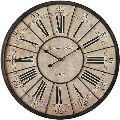 LWXTY Reloj De Números Romanos Retro Reloj De Pared,No Segunda ...