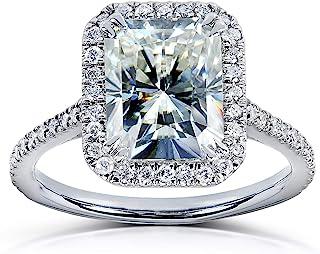Radiant-cut Moissanite Engagement Ring 3 CTW 14k White Gold