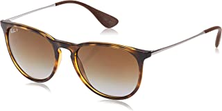 Ray-Ban RB4171 Erika Round Sunglasses, Havana/Polarized Brown Gradient, 54 mm