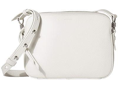 AllSaints Captain Leather SQ Crossbody (Chalk White) Handbags