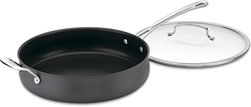Cuisinart 6433-30H Contour Hard Anodized 5-Quart Saute Pan with Helper Handle and Cover