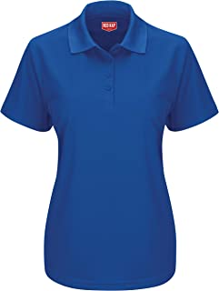 Red Kap Women's Short Sleeve Performance Knit Pocketless Core Polo Polo Shirt
