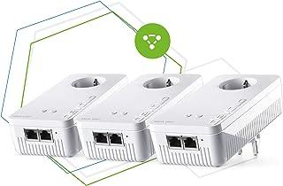 devolo Red WiFi 2-1200 WiFi AC Multiroom Kit: 3 adaptadores WiFi para Red inalámbrica Intermedia, Ideal para Streaming (1200 Mbit/s, Sistema de Tres Bandas, 5 Puertos Gigabit LAN)