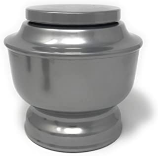 SmartChoice Classic Urns for Human Ashes Adult A Variety of Colors Available with Velvet Bag (Silver)