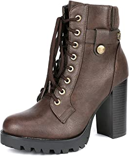 27c178f36 DREAM PAIRS Women's Fashion Ankle Boots - Chunky High Heel Booties