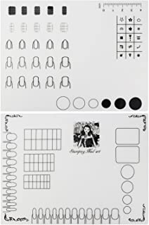 Nail Art Stamping Mat, Silicone Workspace Stamping Plate, Nail Polish Coloring Practice Pad, Nail Sticker Guide Printing T...